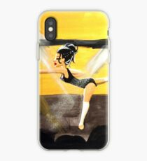 Beautiful Dancer at the Recital, (gouache painting) iPhone Case