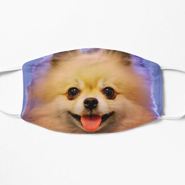 Pomeranian cutesy face Flat Mask