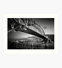Sydney Harbour Bridge Black & White Art Print