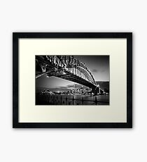 Sydney Harbour Bridge Black & White Framed Print