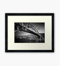 Sydney Harbour Bridge Black & White Framed Print