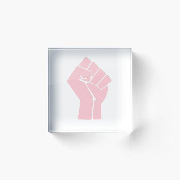 Black Lives Matter Fist Acrylic Block