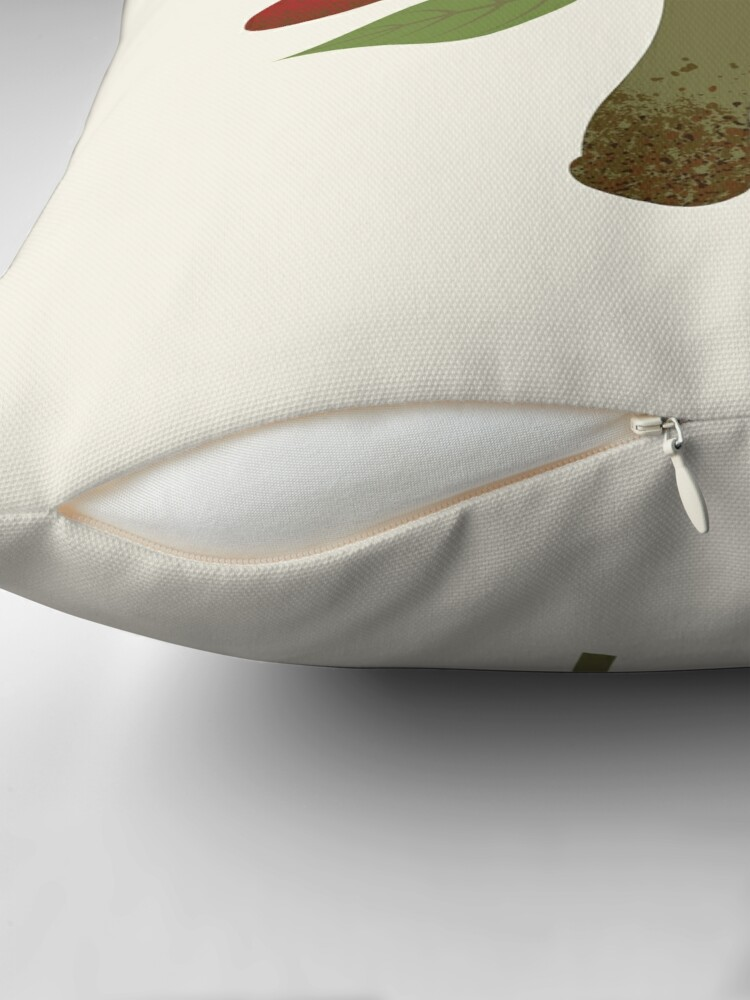Alternate view of Mushroom and Fern  Throw Pillow