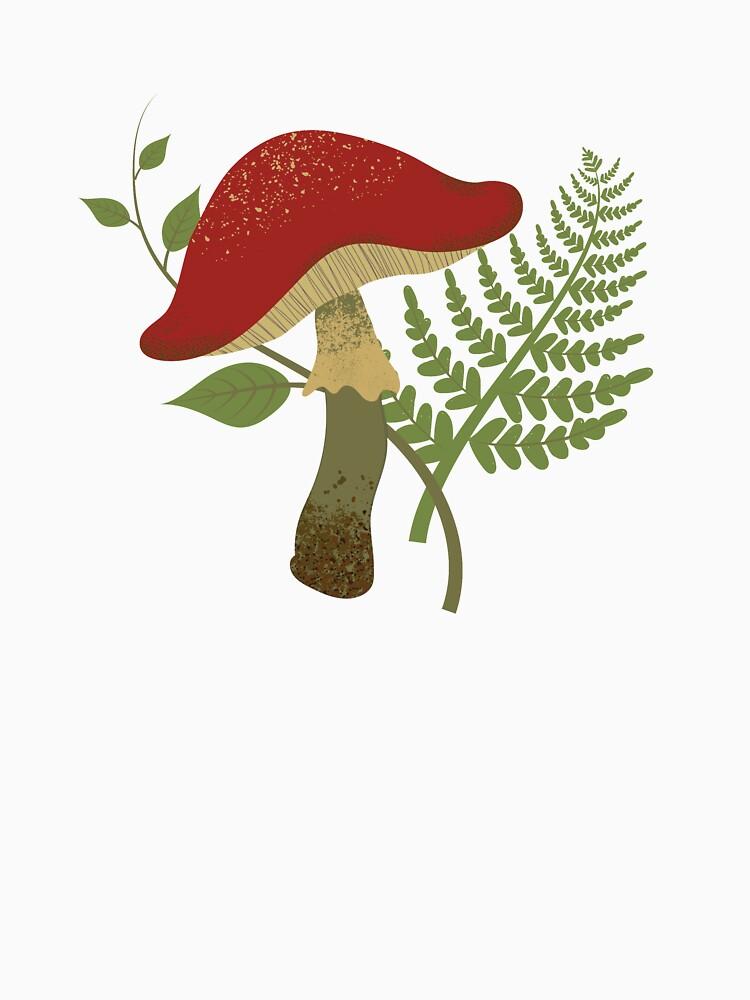 Mushroom and Fern  by MonicaStark