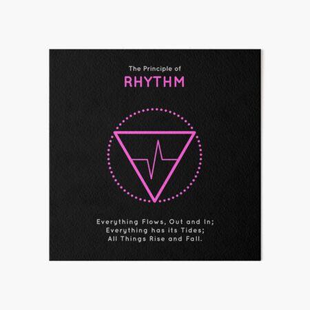 The Principle of Rhythm - Shee Symbol Art Board Print