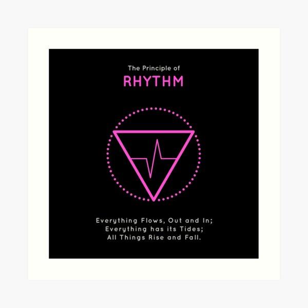 The Principle of Rhythm - Shee Symbol Art Print