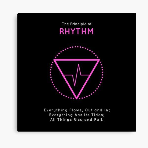 The Principle of Rhythm - Shee Symbol Canvas Print