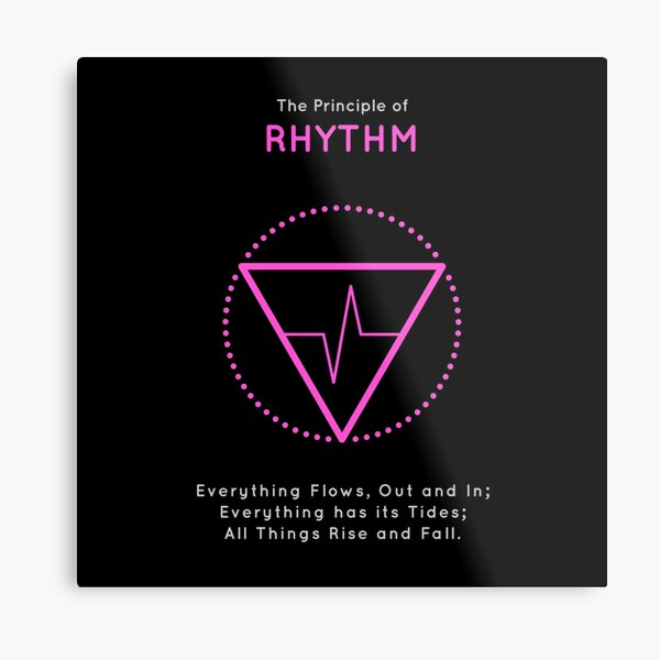 The Principle of Rhythm - Shee Symbol Metal Print