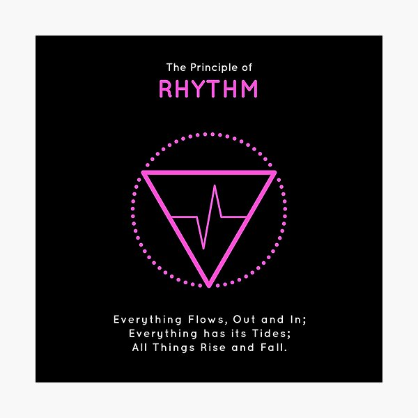 The Principle of Rhythm - Shee Symbol Photographic Print