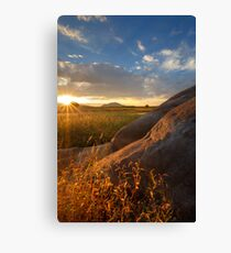 Rays and Rocks Canvas Print