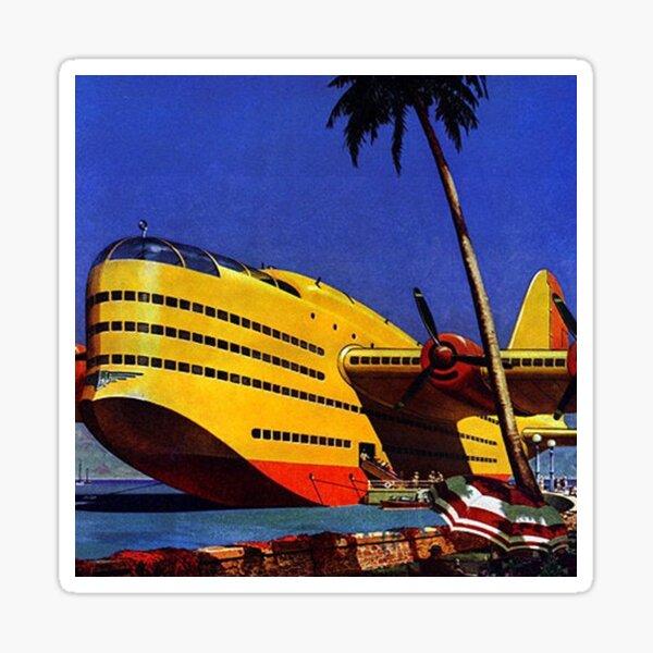 Retro Futurism Sea Plane Sticker
