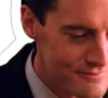 Dale Cooper Coffee Sticker Sticker
