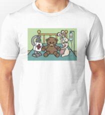 Teddy Bear And Bunny - She Left Me Unisex T-Shirt
