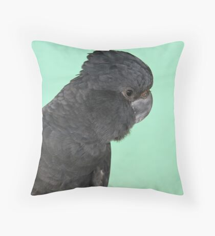 Portrait of a Red-tailed Black Cockatoo Throw Pillow