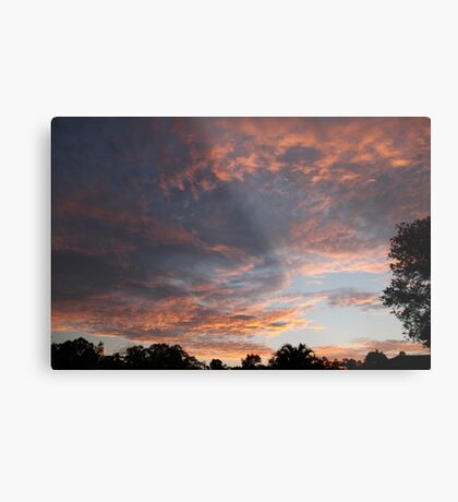 Sunset Over Parkwood, South East Queensland Metal Print
