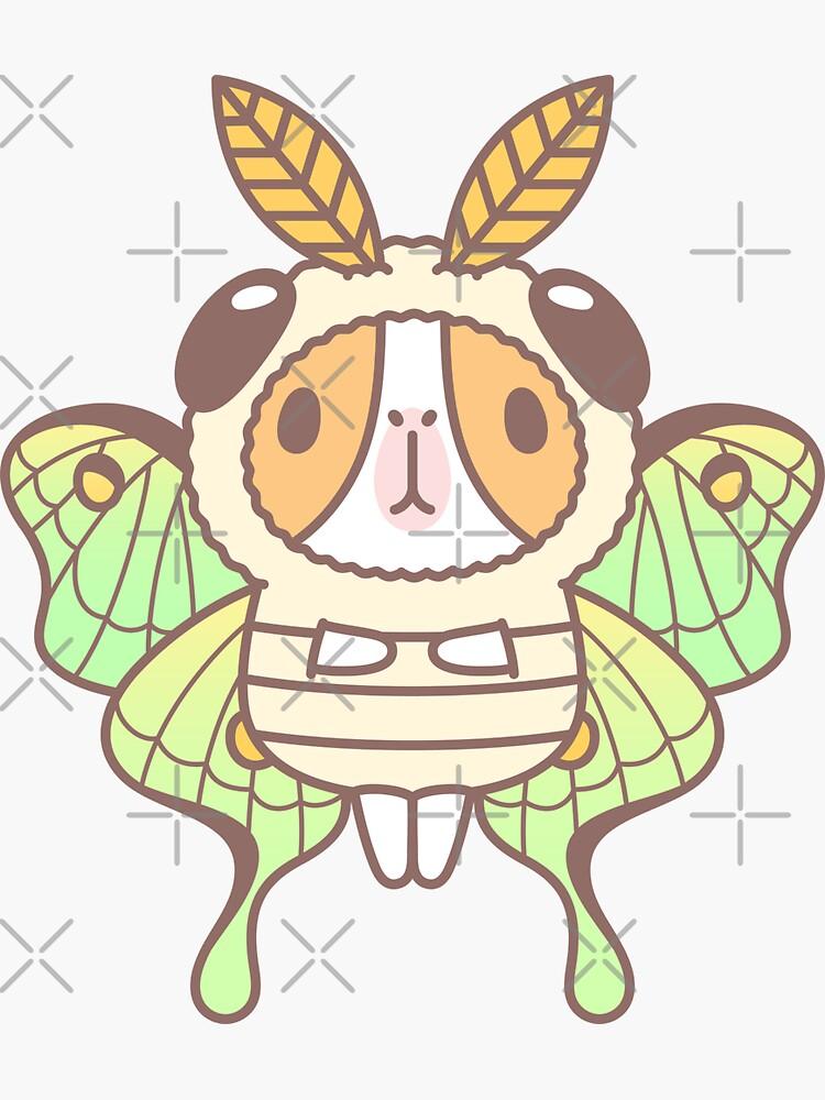 Guinea pig in Luna Moth Costume  by Miri-Noristudio