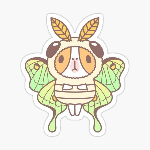 Guinea pig in Luna Moth Costume  Sticker