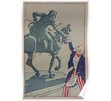 Uncle Sam shaking hands with the marquis de Lafayette 1757 1834 Poster