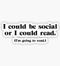 Pegatina Podría ser social
