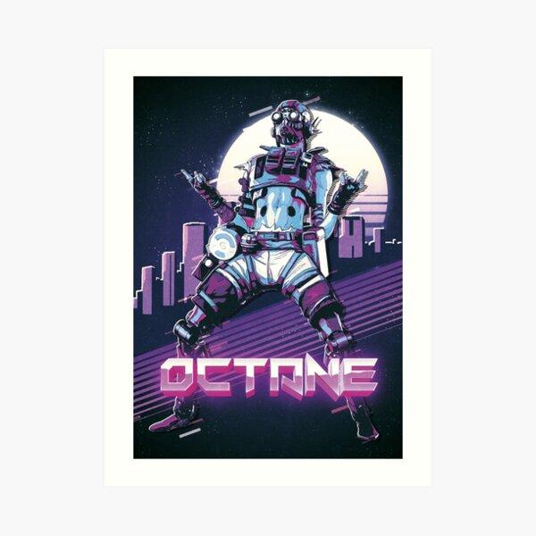 Apex Legends - Octane 80s Retro Art Print