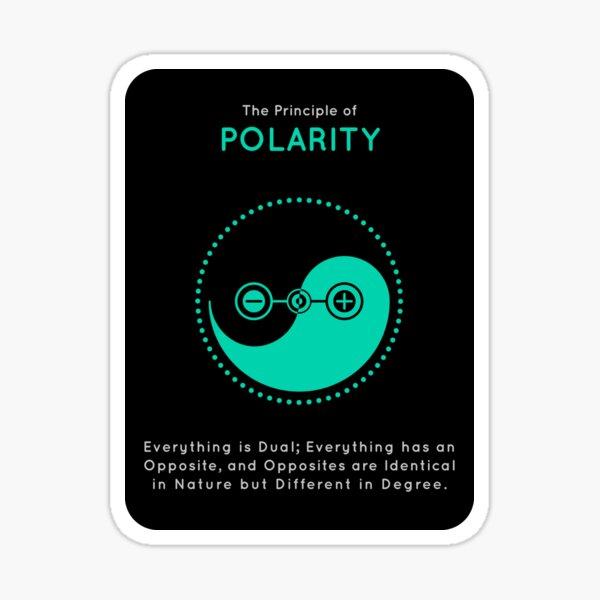 The Principle of Polarity - Shee Symbol Sticker