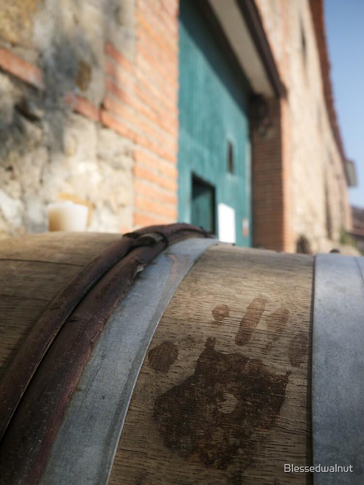 Handprint in Wine by Blessedwalnut