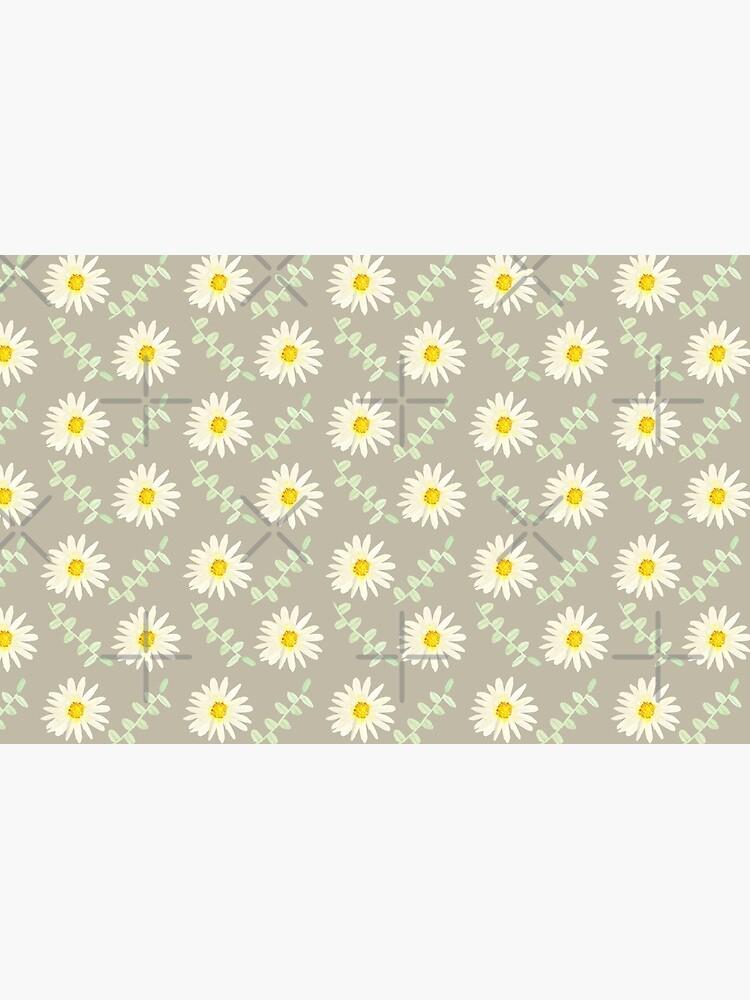Daisy | Watercolor | Art | Pattern | Grey by Harpleydesign