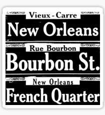 Pegatina Escenas de la señal de la calle de Nueva Orleans