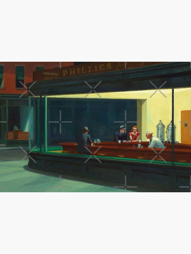 Nighthawks by Edward Hopper 1942 by ginastera-66
