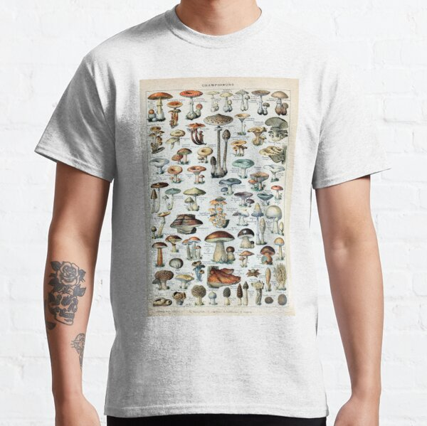 Vintage essbare Pilzkarte Classic T-Shirt