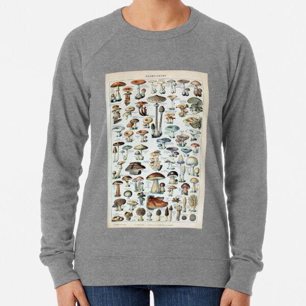 Vintage Edible Mushroom Chart Lightweight Sweatshirt