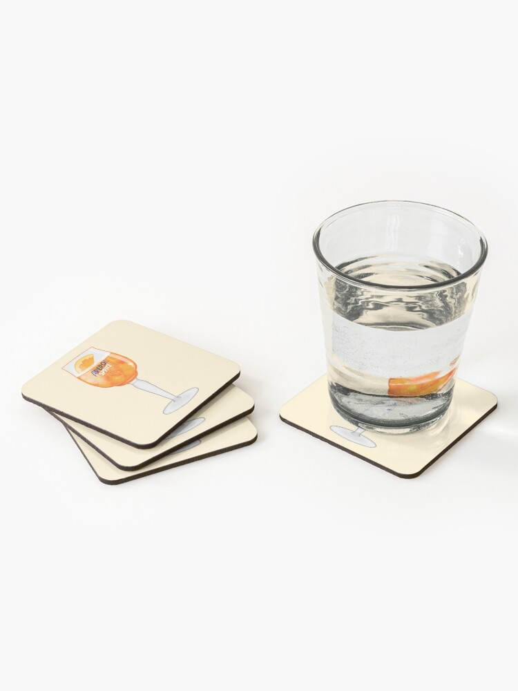 Alternate view of Aperol Spritz in a Glass Coasters (Set of 4)