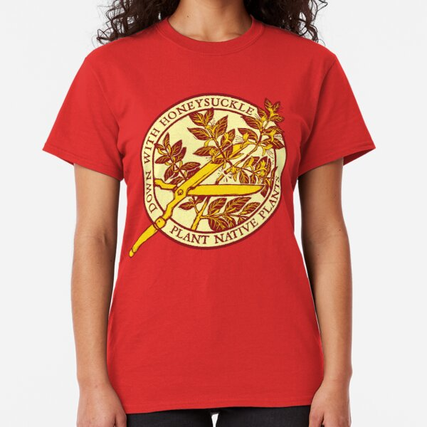 Abajo con madreselva v2 Camiseta clásica