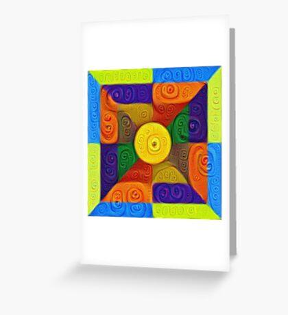 DeepDream Color Squares Visual Areas 5x5K v1447854295 Greeting Card