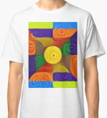 DeepDream Color Squares Visual Areas 5x5K v1447854295 Classic T-Shirt