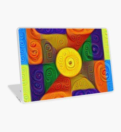DeepDream Color Squares Visual Areas 5x5K v1447854295 Laptop Skin