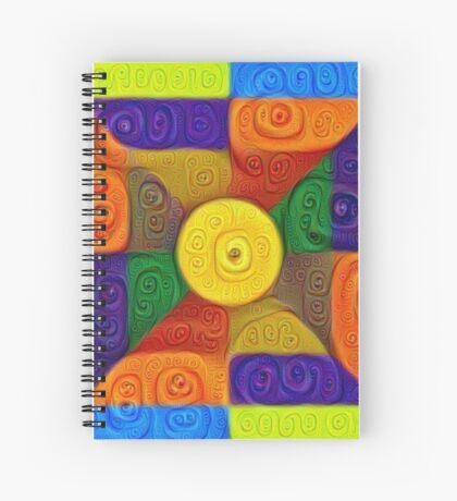DeepDream Color Squares Visual Areas 5x5K v1447854295 Spiral Notebook