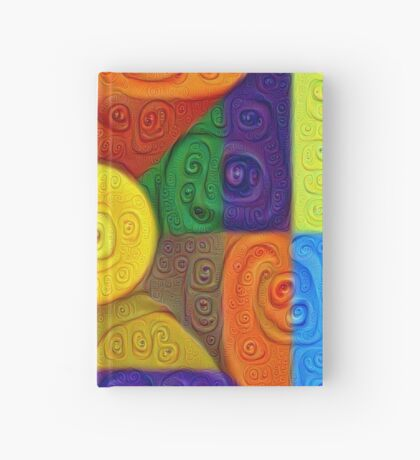 DeepDream Color Squares Visual Areas 5x5K v1447854295 Hardcover Journal