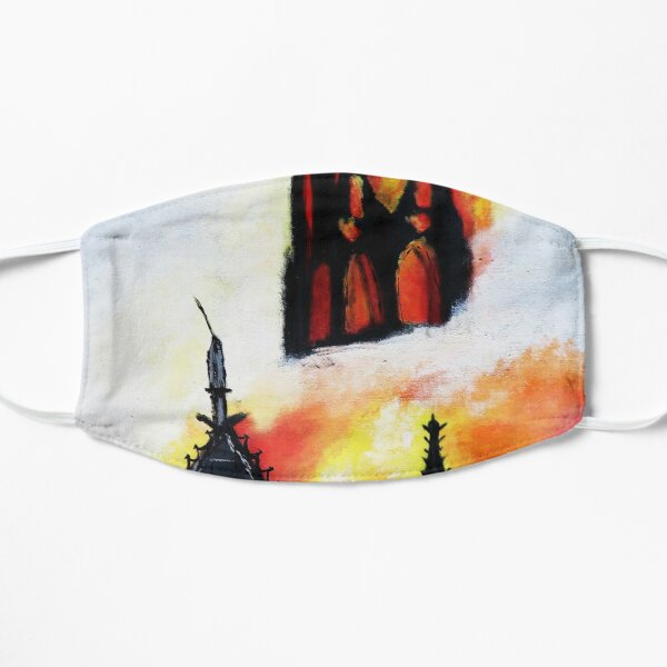 Notre Dame in Flames Mask