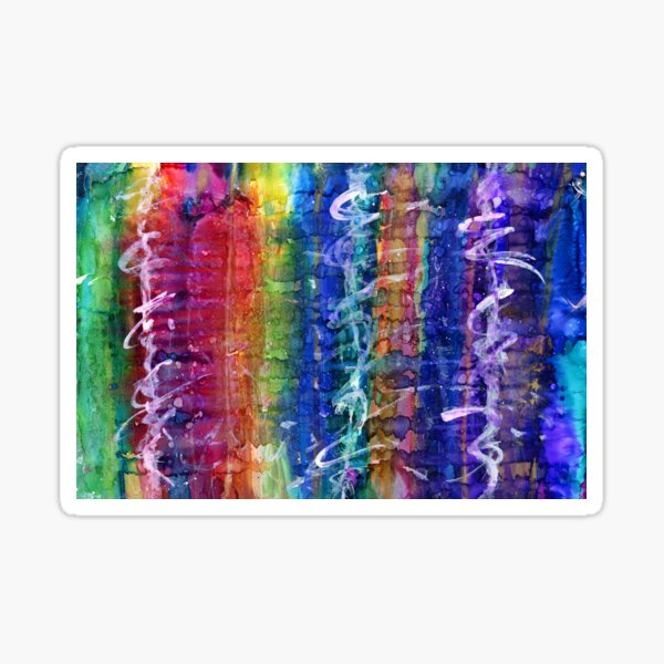 Stages abstract Sticker