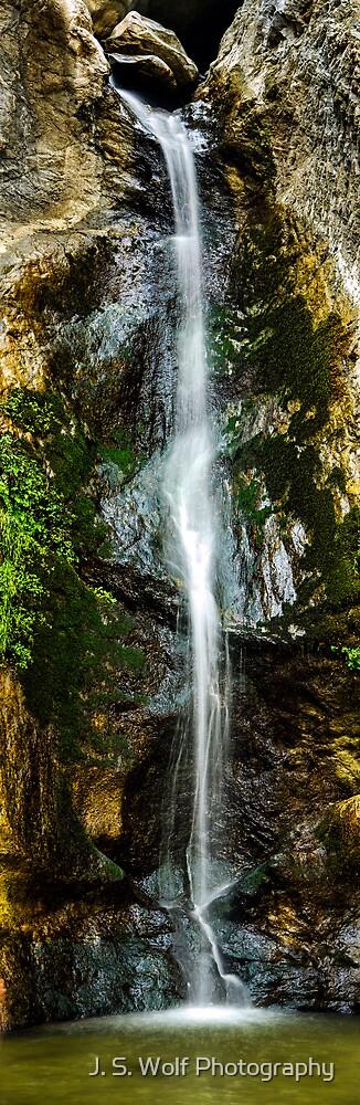 Waterfall Long by jswolfphoto