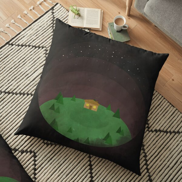 Night Forest Floor Pillow