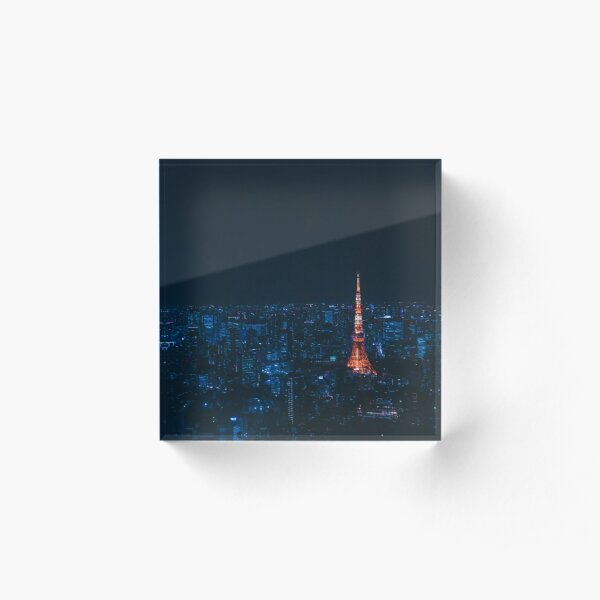 Tokyo Tower by Night Acrylic Block