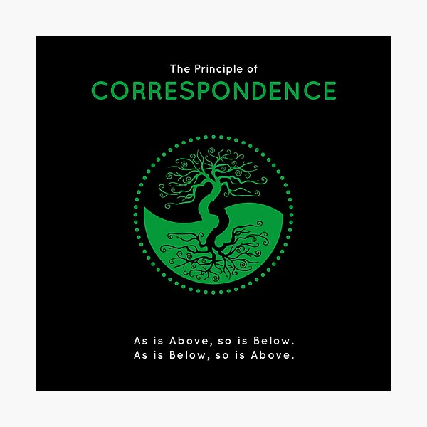 The Principle of Correspondence - Shee Symbol Photographic Print