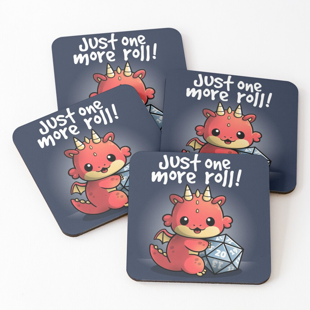 Dragon one more roll Coasters (Set of 4)
