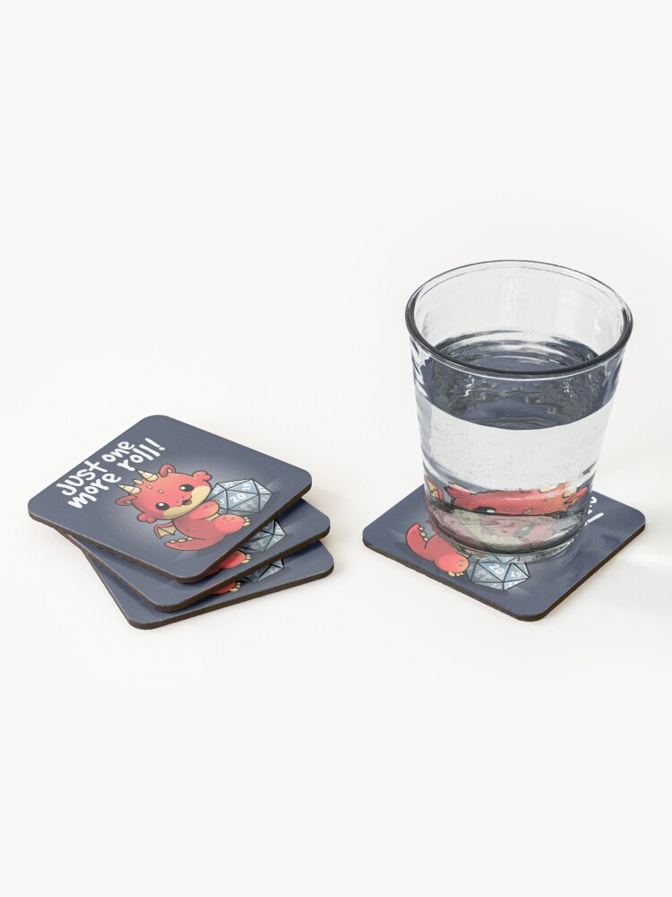 Alternate view of Dragon one more roll Coasters (Set of 4)