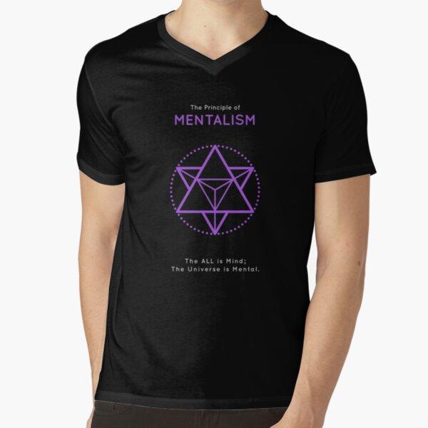 The Principle of Mentalism - Shee Symbol V-Neck T-Shirt