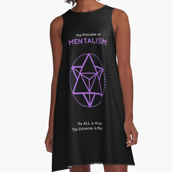 The Principle of Mentalism - Shee Symbol A-Line Dress