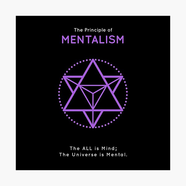 The Principle of Mentalism - Shee Symbol Photographic Print