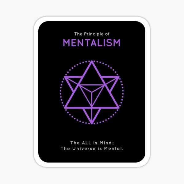 The Principle of Mentalism - Shee Symbol Sticker